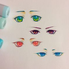 Some eye doodles #animeeyes #copic
