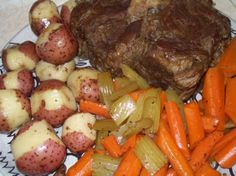 Beef Pot Roast (In Pot, Oven or Slow Cooker) Another One! My favorite crockpot beef roast. Beef Pot Roast, Pot Roast Recipes, Crockpot Recipes, Yummy Recipes, Roast Gravy, Pork Recipes, Slow Cooker Beef, Slow Cooker Recipes, Cooking Recipes