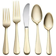Joy Mangano 45-piece Gold-Plated Flatware Set - Service for 8 at HSN.com