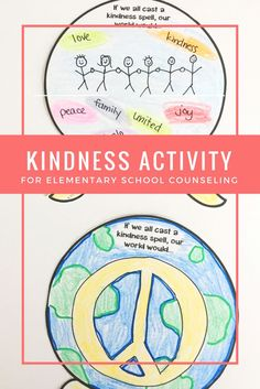 """This elementary school counseling classroom guidance lesson introduces students to the ripple effect of kindness! Use a simple demonstration with water and food coloring to illustrate the point. Give students a card with a peer's name for the student to cast a secret """"kindness spell"""" during the lesson. Students complete a simple cooperative team-building exercise"""