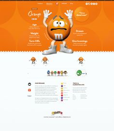 Great M&M webpage designs: https://www.behance.net/gallery/Snickers-M-Ms-and-Twix/13154827
