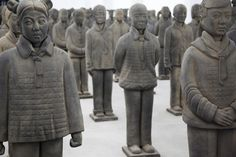 6 Terracotta Daughters by Prune Nourry Prune Nourrys Terracotta Daughters Installation Reflects Upon Gender Preference in China