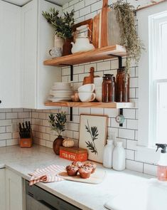 Here are some small kitchen remodel ideas you can apply to optimize space, enhance appearances and also functional designs, and also typically make your small kitchen incredible. Home Decor Kitchen, Kitchen Interior, Home Kitchens, Country Kitchen, Kitchen Ideas, Pantry Ideas, Kitchen Themes, Kitchen Furniture, Kitchen Plants