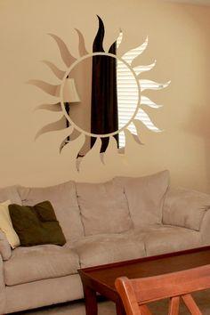 Sunshine Reflective Wall Decal by WALLTAT.com