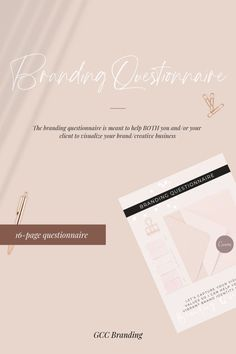 The branding questionnaire is meant to help BOTH you and/or your client to visualize your brand/creative business. #branding