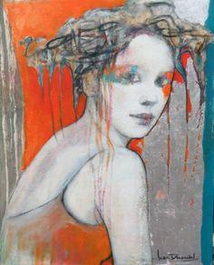 NIMBE - Joan Dumouchel - 20'' x 16'' - technique mixte sur toile