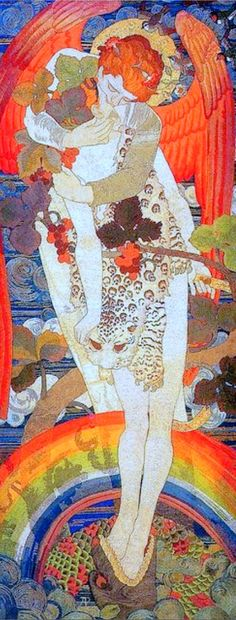 In the spirit of Gustav Klimt. But is this a Klimt? Gustav Klimt, Klimt Art, Art And Illustration, Arts And Crafts Movement, Art Nouveau, Art Amour, Ouvrages D'art, Fine Art, Henri Matisse