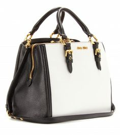 892650858d6c Miu Miu - Two-tone leather tote - mytheresa.com GmbH