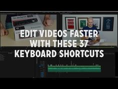"""37 """"Need to Use"""" Keyboard Shortcuts for Premiere Pro - YouTube"""
