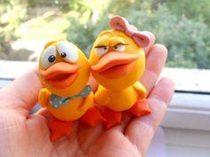 polymer clay ducks