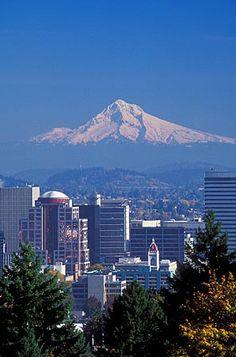 Portland, Oregon Photo Gallery | Away.com  View from the Rose Gardens of Portland & Mt. Hood.