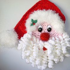 Crochet Santa, wall hanging, my own design, by Jerre Lollman