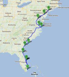 Road Trip Along The East Coast of USA