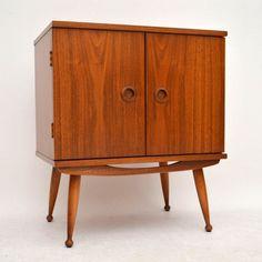 Retro walnut drinks record cabinet for sale london ...