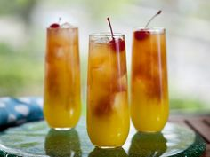 Sex on the Beach ~ A sweet, fruity classic, with peach schnapps, vodka and orange juice.