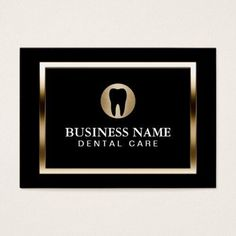 Shop Dental Care Modern Gold Border Dentist Business Card created by cardfactory. Dentist Day, Teeth Dentist, Dental Surgery, Dental Implants, Dental Hygienist, Dental Business Cards, Teeth Whitening That Works, Dental Office Design, Design Offices