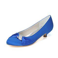 Dámské+-+Svatební+obuv+-+Podpatky+-+Lodičky+-+Svatba+/+Party+-+Černá+/+Modrá+/+Růžová+/+Fialová+/+Slonovinová+/+Bílá+/+Stříbrná+–+USD+$+34.99