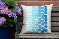 'Giant's Causeway' Pillow Gift (Just Jude Designs – Quilting, Patchwork & Sewing patterns and classes) Basalt Stone, Cushions To Make, Fabric Scraps, Scrap Fabric, English Paper Piecing, Mini Quilts, Sewing Patterns, Throw Pillows, Quilting