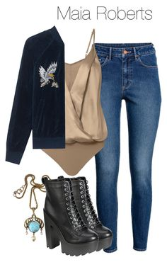 Maia Roberts - Shadowhunters by shadyannon on Polyvore featuring polyvore moda style Pam & Gela H&M Michelle Mason fashion clothing