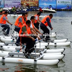 Source 2017 Water Sports Hot Selling PVC Pontoons Propeller Water Bikes Water Bicycle Sea Bikes Supply on m.alibaba.com