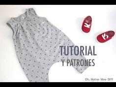 DIY Cómo hacer mono UNISEX (patrones gratis) | Manualidades
