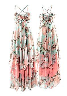 H M HM Charming Bohemian Maxi Floral Long Chiffon Gisele Beach Dress Beach Dresses, Nice Dresses, Summer Dresses, Summer Clothes, Maxi Dresses, Beautiful Dresses, Summer Outfits, Fashion Dresses, Only Fashion