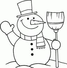Výsledek obrázku pro snowman drawing