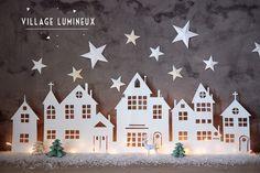 DIY :: VILLAGE LUMINEUX DE NOËL - Aux petites merveilles