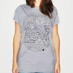 Camiseta feminina BIOMESS, modelagem boyfriend