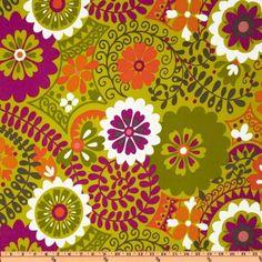 Richloom Solarium Outdoor Luxury Floral Citron Home Decor Fabric