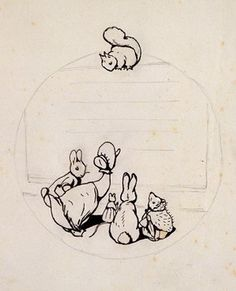 Beatrix Potter, Design for the back cover of 'Peter Rabbit's Painting Book', 1911.