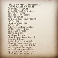 i was reading something i had written in 2015, and it inspired me to write this... #JoshuaRyanStewart #communityofwriters #writersofinstagram #artistsoninstagram #instaquote #poetsofinstagram #westvirginia #heart #love #lovepoem #lovepoetry #lovequotes #soul #thoughts #poem #wordporn #pinquotes #quoteoftheday #poetry #poet #poetryloving #wordswithkings  #hopefulromantic #words #poetsociety #poetryofinstagram #qoute #youwriteillbleed