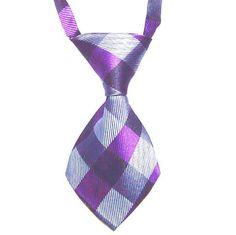 HelloDefiance, Purple & Grey Cross-Check Dog Tie, best, HelloDefiancecheap