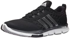 adidas Performance Men's Speed Trainer 2 Training Shoe, Black/White/Carbon Metallic, 4 M US