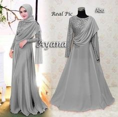 baju muslim pesta modern ayana - Wedding World Kebaya Muslim, Dress Brokat Muslim, Kebaya Modern Hijab, Kebaya Hijab, Kebaya Dress, Dress Pesta, Modern Hijab Fashion, Muslim Dress, Trend Fashion