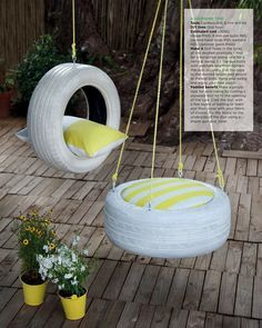 DIY tyre swing // DIY tire swing