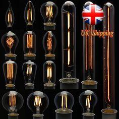E27 E14 2/4/6/8/40W LED Retro Edison Filament Flame Candle Globe Light Lamp Bulb