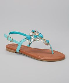 Little gals will love stepping out for sun and fun in these sweet sandals. The embellished t-strap silhouette adorns ankles with feminine fashion, while the buckle closure makes this pair an easy essential for every day. T Strap, Feminine Style, Kid Shoes, Little Girls, Kids Fashion, Berries, Teal, Pairs, Ankle