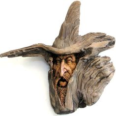 Wizard Woodcarving by psychosculptor on DeviantArt