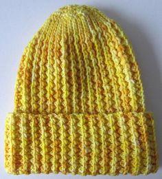 Faux Mistake Rib Easy Crochet Hat
