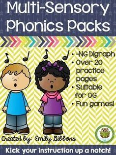 This -ng glued sounds pack has everything you need to teach the -ng glued sounds for -ing, ang, ong, and ung. Teaching Phonics, Phonics Activities, Teaching Resources, Learning Letters, Kids Learning, Phonemic Awareness Activities, Teaching Techniques, Reading Strategies, Reading Lessons