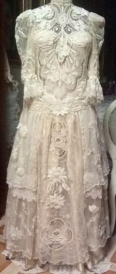 "Old Antique Bobbin Lace Trim Edging Good for Dolls Inserts Baby Bonnets Etc 3//4/"""