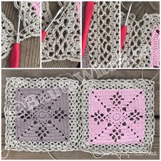DIY – Victorian Lattice Square o min variant av Lace Join – BautaWitch Crochet Bedspread Pattern, Crochet Edging Patterns, Crochet Squares, Crochet Motif, Baby Blanket Crochet, Crochet Stitches, Crochet Hooks, Burlap Crafts, Square Blanket