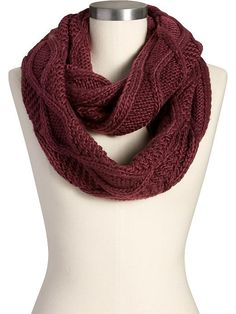 Women's Cable-Knit Infinity Scarves Product Image