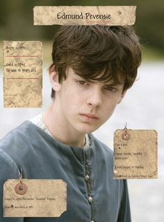 """Edmund Pevensie. That part about """"he lived longer in Narnia"""" was unnecessary, thank you."""