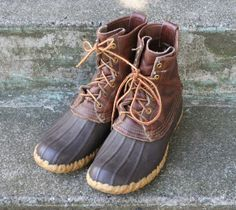 LL BEAN Hunting BOOTS / Maine Hunting Shoe Lace-Up Duck Boots, 8