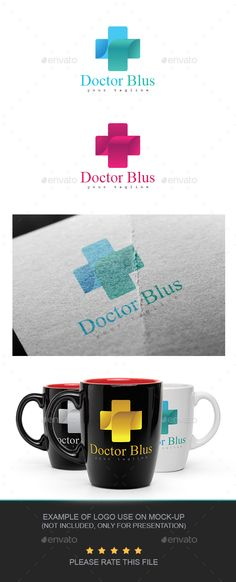 Doctor Blus Logo — AI Illustrator #media #gradient • Available here → https://graphicriver.net/item/doctor-blus-logo/20849562?ref=pxcr