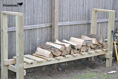 DIY Log Holder....We use nothing but wood for heat;so I'd like to make several of these!