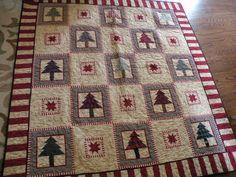 @Paige Howell i love this Christmas quilt! very cabin-y lol