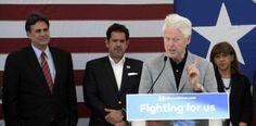 [VÍDEO] @billclinton en campaña en la Isla por @HillaryClinton...